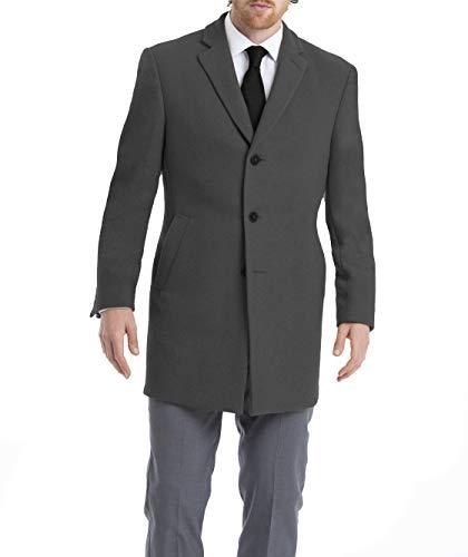 Calvin Klein mens Slim Fit Wool Blend Overcoat Jacket