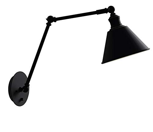 Stone & Beam Modern Wall Sconce, 12.5''H, With Bulb, Matte Black by Stone & Beam (Image #9)