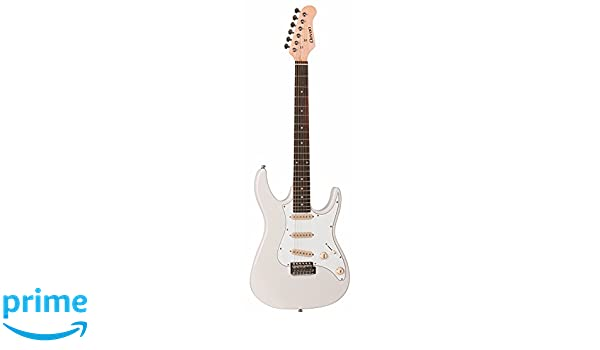 Amazon.com: Clevan 6 String CST-10 Electric Guitar, Ivory, IV: Musical Instruments
