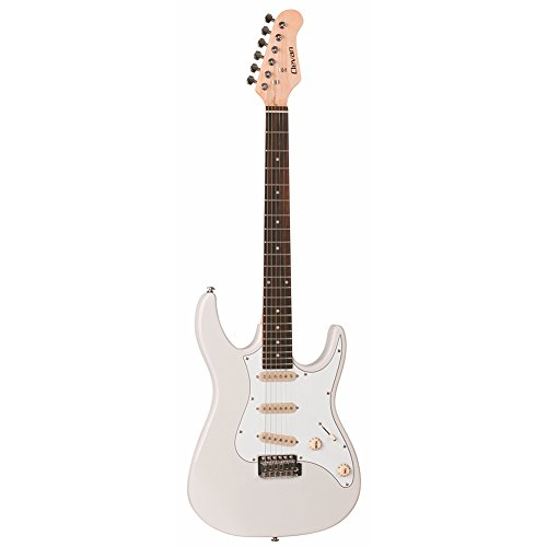 Clevan 6 String CST-10 Electric Guitar, Ivory, IV