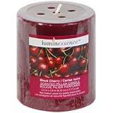 Luminessence Black-Cherry Scented Pillar Candles
