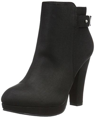 black Bottes Strap Femme Jja16 Bianco 10 Back Courtes Noir Boot Schwarz Onxq7v
