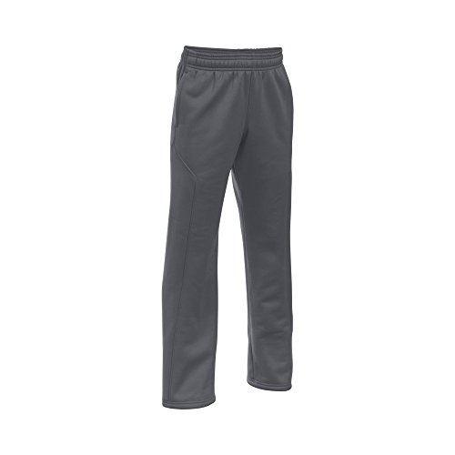 Under Armour Boys' Storm Armour Fleece Big Logo Pants, Graphite/Ultra Blue, Youth X-Large by Under Armour (Image #3)