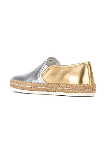 Hogan Rebel Slip On Sneakers Donna HXW3000Q560SV04925O Pelle Argento/Oro *Damaged Box*