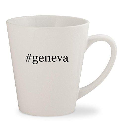 #geneva - White Hashtag 12oz Ceramic Latte Mug Cup (Geneva Sound System Model)