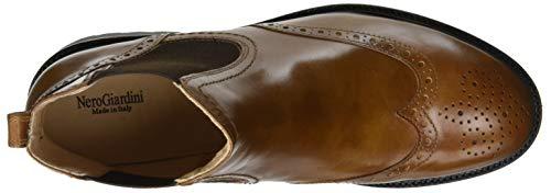 leather Cuoio Donna 400 Tr Giardini Chelsea Manolete Stivali Nero Beige HEAw8fxq