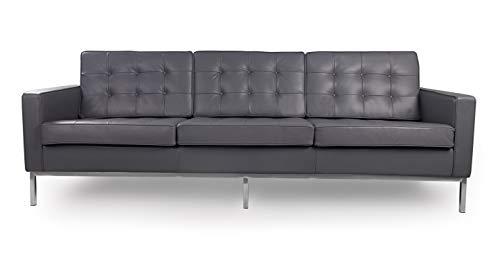 Kardiel Florence Knoll Style Sofa 3 Seat, Seal Grey Aniline