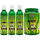 BOE Crece Pelo Fitoterapeutico Natural Shampoo & Rinse & Leave-in & Treatment 61oz
