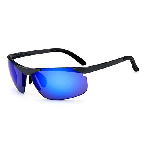 Garrelett Outdoor Sports Driving Sunglasses Polarized Sun Eyeglasses Reflective Sun Eyewear Blue Lens Black Frame for Men and - To Ray Get Bans Where