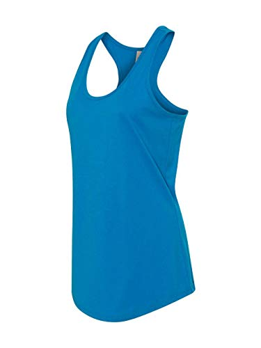 Next Level Apparel Women's The Ideal Quality Tear Away Tank Top, Turquoise, Small