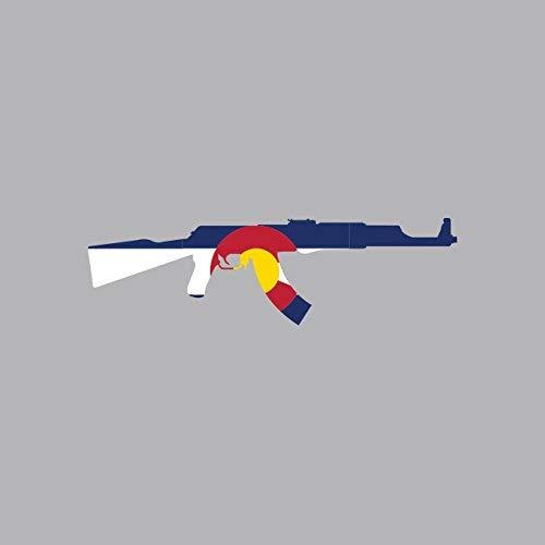 Magnet Colorado State Shape AK-47 Magnetic Vinyl AK47 Kalashnikov CO Car Magnet Bumper Sticker ()