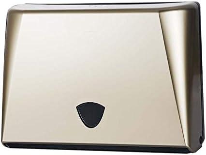 S2F5 コマーシャルペーパータオルディスペンサー、壁掛けハンドタオルディスペンサー、パンチ無料、プラスチック、コンパクト (Color : Gold)