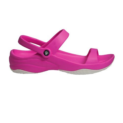 3 Sandal Pink with White Rubber Hot Sole with Strap Premium DAWGS Women's fqvwEAqa