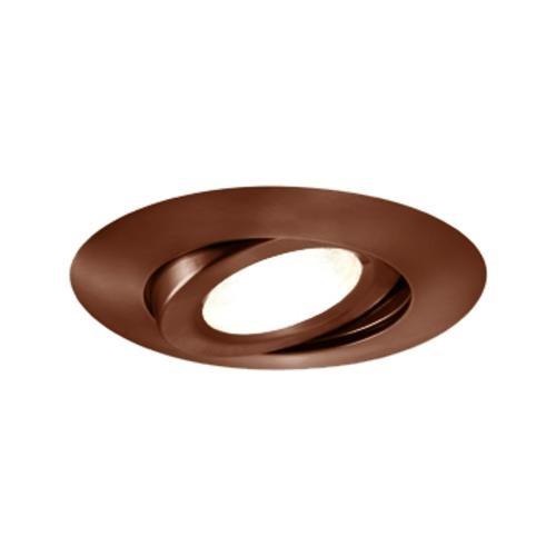 Jesco Lighting TM603AB 6-Inch Aperture Line Voltage Trim Recessed Light, Adjustable Gimbal Ring, Antique Bronze Finish