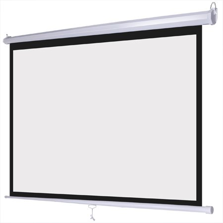 Excellent Quality Convenient Helpful Manual Pull Down Projector Screen Wall Celling Installation Design Mounted 72