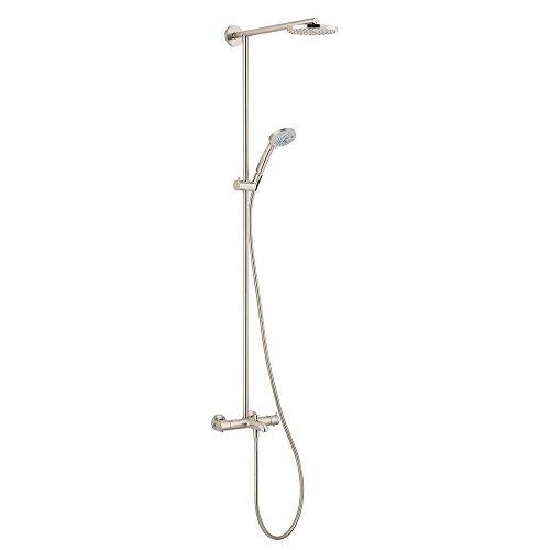 Hansgrohe 27146821 Raindance Showerpipe Tub/Shower, Brushed Nickel (180 Showerpipe Raindance)