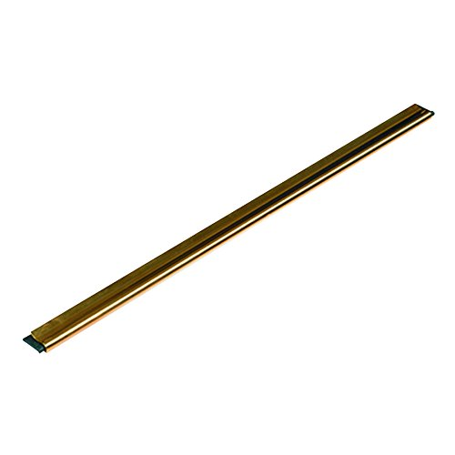 Unger GC30 Golden Clip Brass Channel with Black Rubber Blade & Clip, 12 Inches, - Clip Channel Golden Brass