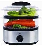 EWARE EW-92214IVS 2 Layer 5.5 quart Digital Electric Healthy Food Steamer, Stainless Steel