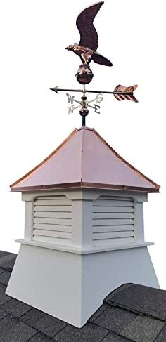 Accentua Olympia Cupola with Eagle Weathervane, 24 in. Square, 63 in. High