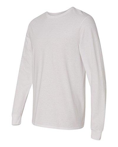 Mens 100% Cotton Jersey (Fruit of the Loom 4.7 oz., 100% Sofspun™ Cotton Jersey Long-Sleeve T-Shirt, Medium, WHITE)