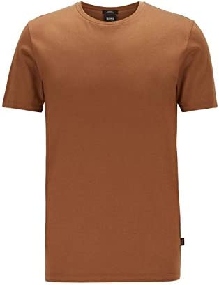 Hugo Boss Slim Fit - Camiseta de algodón Marrón oscuro XXL: Amazon.es: Ropa y accesorios