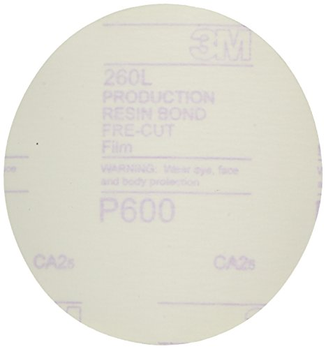 3M 00955 Hookit 5'' P600 Grit Finishing Film Disc by 3M