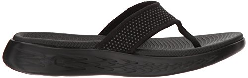 Go Punta Donna The Black On 600 a Skechers Nero Sandali Aperta 8CEx6qw