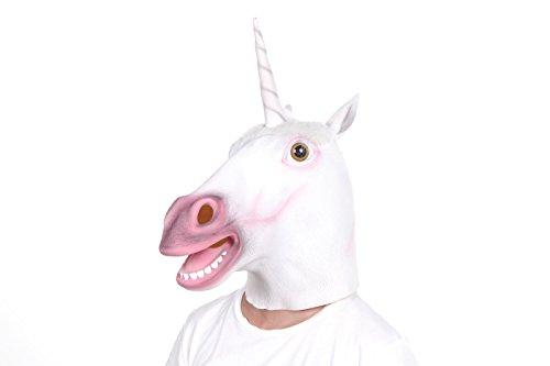 LUBBER Halloween Costume Unicorn Costume Head Mask Latex ... Unicorn Head Mask Amazon