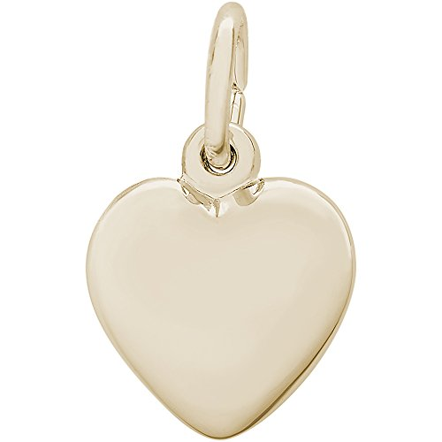 Rembrandt Charms 14K Yellow Gold Petite Puffy Heart Charm (0.37 x 0.4 inches) by Rembrandt Charms