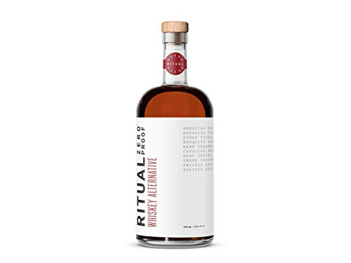 Ritual Whiskey - A zero proof non alcoholic alternative that echoes the taste, smell, and burn of American whiskey for easy mocktails and low-carb, alcohol- and gluten-free cocktails (750 mL)