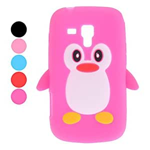 JJE 3D Design Penguin Pattern Soft Case for Samsung Galaxy Trend Duos S7562 (Assorted Colors) , Blue