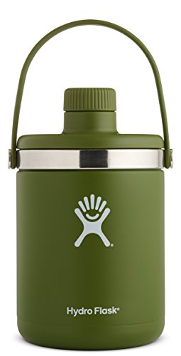 Hydro Flask 64 oz Oasis Water Jug | Stainless Steel & Vacuum Insulated | Leak Proof Cap | Olive