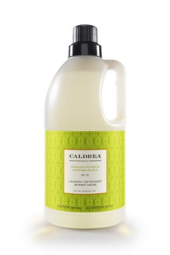 Caldrea Laundry Detergent, Ginger Pomelo, 64-Ounce Bottles (Pack of 6) by Caldrea