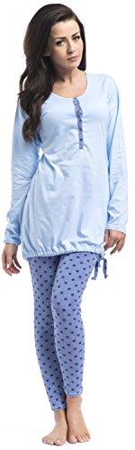 dn-nightwear - Pijama entero - para mujer Azul Claro