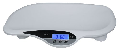 American Weigh Scales MDI-20 Baby Scale with Sturdy Polymer Construction and 44-Pound Capacity, White