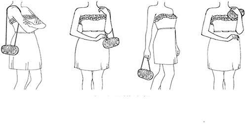 LXDDJsl kvinnor handväska clutches väska för kvinnor kvinnor kvinnor clutches kvällsväskor handväskor bröllop kuvertväska med avtagbar Tooy