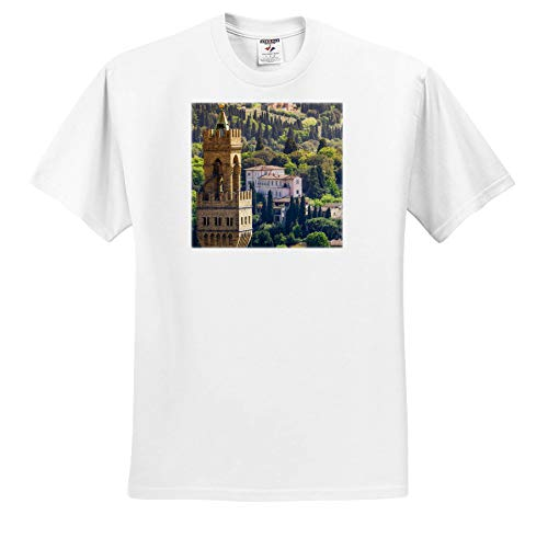 3dRose Danita Delimont - Florence - Bell Tower and Houses, Florence, Tuscany, Italy - Toddler T-Shirt (3T) (ts_313743_16) White