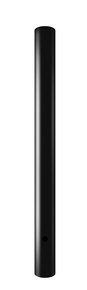 Wellite 72 inch Outdoor Lamp Post Direct Burial Aluminum Post for Drive Way, Black