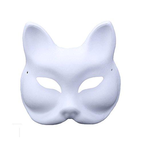 Himine 9 Pcs DIY White Paper Mask Blank Hand Painted Mask (Diy Vampire Costume)