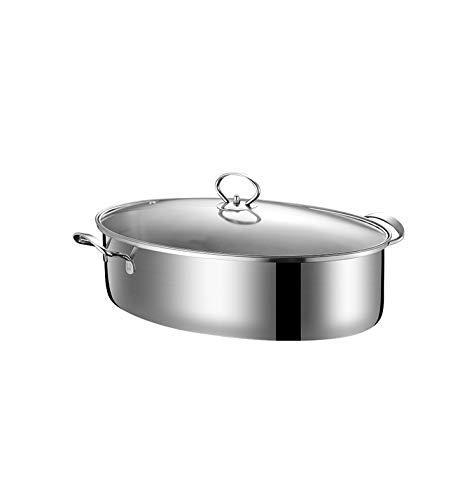 ステンレス鋼の汽船調理鍋、炊飯器、家庭の台所に適して、実用的、丈夫、安全、衛生的、台所必須、多機能、高品質。 (Color : Stainless steel)  Stainless steel B07SN24XZ6
