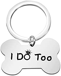 POTIY Dog Pet Id Tag Wedding Pet Accessories I Do Too Engagement Dog Wedding Gifts (I do Too)