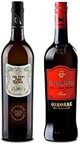 Vino fino en rama Tío Pepe d 75 cl y Vino Fino Quinta de 75 cl - Mezclanza Exclusiva
