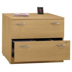 Series C 2 Drawer Lateral File Finish: Danish Oak/Sage