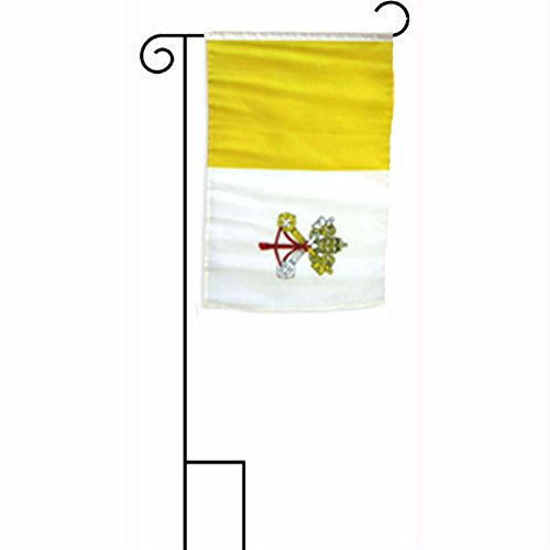 ALBATROS 12 inch x 18 inch Vatican City Sleeved with Garden Stand Flag for Home and Parades, Official Party, All Weather Indoors Outdoors ()