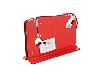 Sellador Rojo de Bolsas + 6 rollos de cinta para fruta, vegetales y pan (Bag Neck Sealer Red)