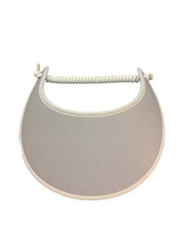 Pickleball - Fashion Fabric Foam Sun Visor for Women - The Sporty Look - Adjustable to Any Size Head - No Pressure & No Headache! - Solid Grey w/Trim