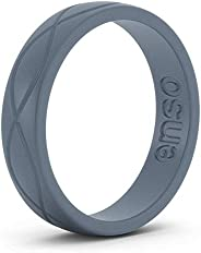 Enso Rings Women's Infinity Silicone Wedding Ring – Hypoallergenic Wedding Band for Ladies – Comfortable Band