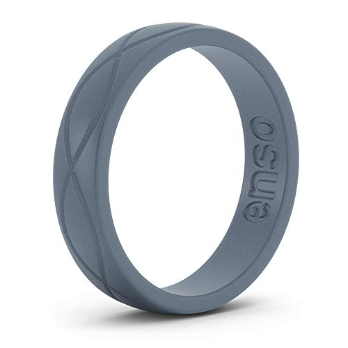 - Enso Womens Infinity Silicone Ring, Slate Blue 6