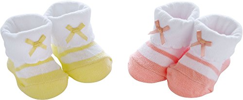 White 2 Pack Bootie - 5
