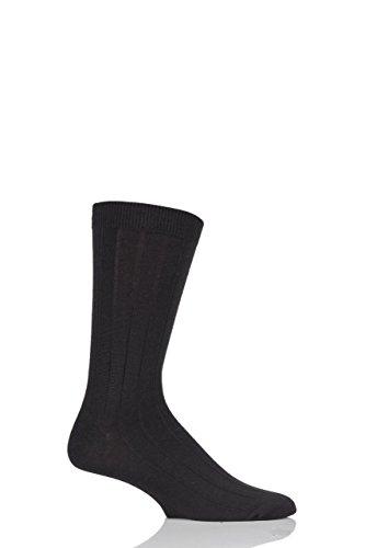 Mens-1-Pair-Braintree-Hemp-Hero-Plain-Hemp-and-Organic-Cotton-Socks-Black-One-Size